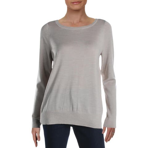 Lafayette 148 New York Womens Pullover Sweater Wool Melange - Luxor Melange - L