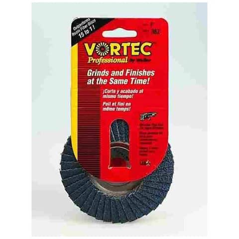 """Weiler 30821 """"Vortec Pro"""" 36 Grit Abrasive Nutted Flap Disc 5/8"""""""