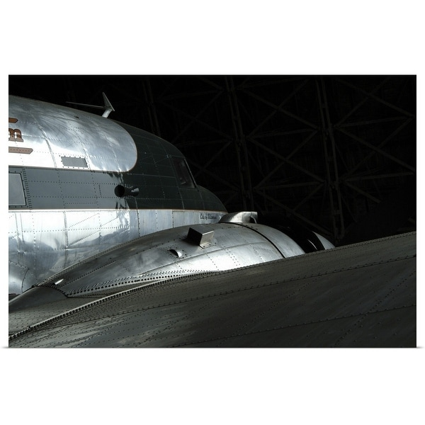 """""""Detail of vintage military aircraft in museum in Oregon, USA"""" Poster Print"""