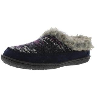 Staheekum Womens Serene Boucle Faux Fur Slip-On Slippers