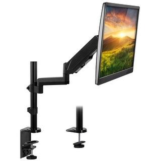 "Mount-It! Single Monitor Arm Desk Mount, Height Adjustable Full Motion VESA Riser Stand for Computer Screens 19""- 32"""