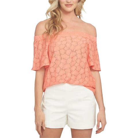 1.State Womens Flounce Knit Blouse