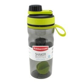 Rubbermaid 1896463BG Shaker Water Bottle, Black Green, 20 Oz