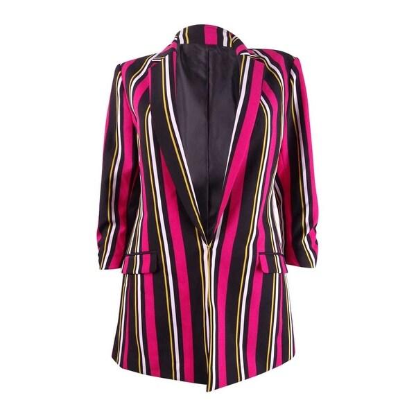 INC International Concepts Women's Striped Blazer (XS, Posh Stripe). Opens flyout.