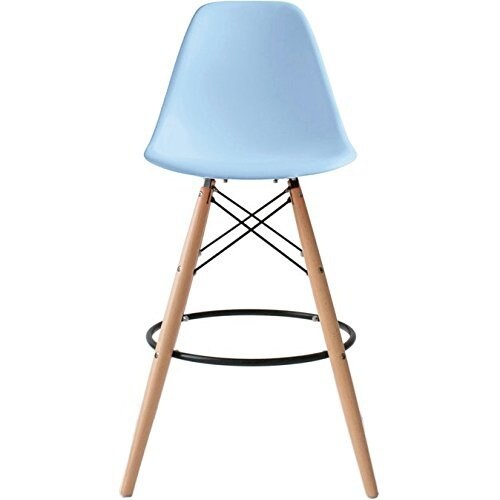 Shop 2xhome 28 Inch Chair Dsw Blue Counter Bar Stool