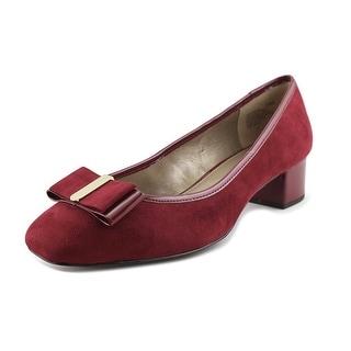 Bandolino Ximena Women Round Toe Canvas Burgundy Heels