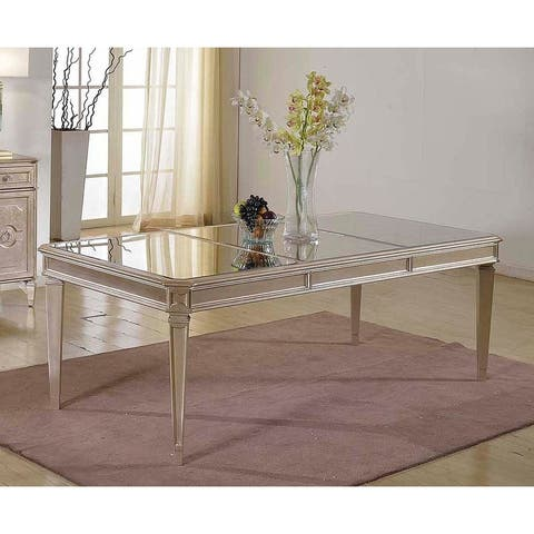 Best Master Furniture Bronzed Mirrored 90 Inch Dining Table