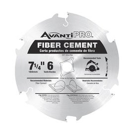 "Freud 7-1/4"" 6T Cement Blade"