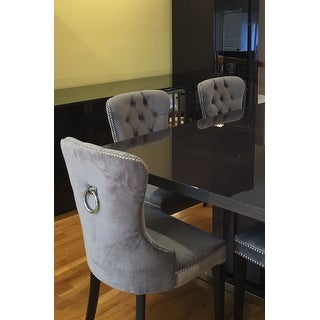 Lovely Abbyson Versailles Grey Tufted Dining Chair   Free Shipping Today    Overstock.com   17895312