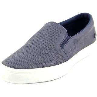Lacoste Gazon 216 Men Round Toe Leather Blue Sneakers