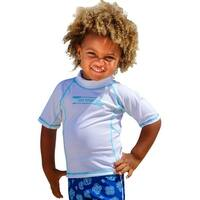 Sun Emporium Baby Boys White Multi Panel Short Sleeve Rash Guard