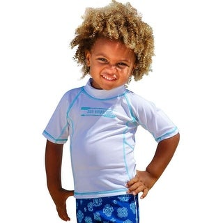 Sun Emporium Baby Boys White Multi Panel Short Sleeve Rash Guard