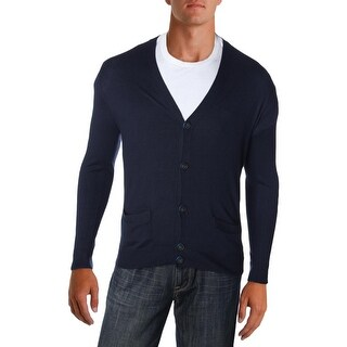 Marc by Marc Jacobs Mens Cardigan Sweater Silk Colorblock