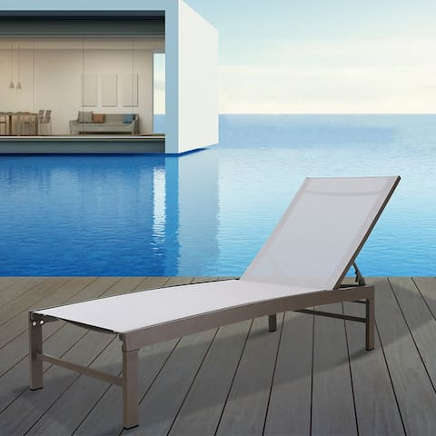 Crestlive Products Outdoor All Weather Adjustable Chaise Lounge Chair - 75.79*24.61*41.61 in