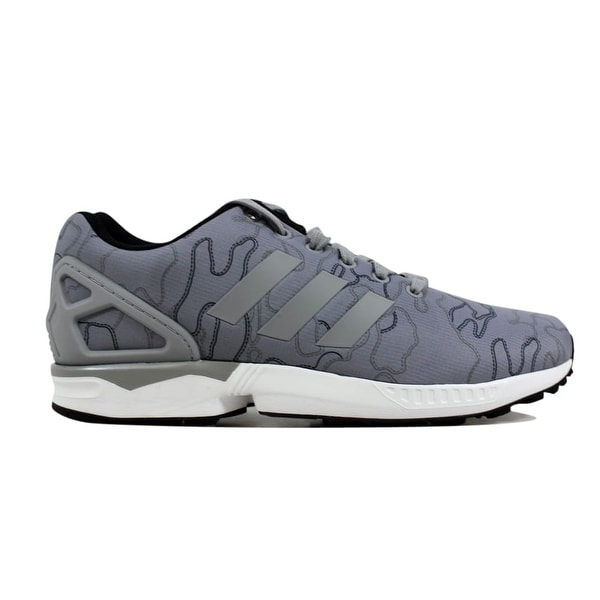 5e389b06cc24a Shop Adidas Men s ZX Flux Charcoal Grey White AQ4903 Size 10 - Free ...