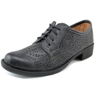 2 Lips Too Too Elizabeth Round Toe Leather Oxford