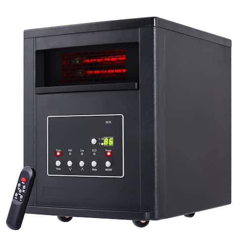 Costway 1800 Sq. Ft 1500W Electric Quartz Tube Space Heater Furniture