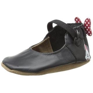 Robeez Disney Minnie Mary Jane Leather Crib Shoes