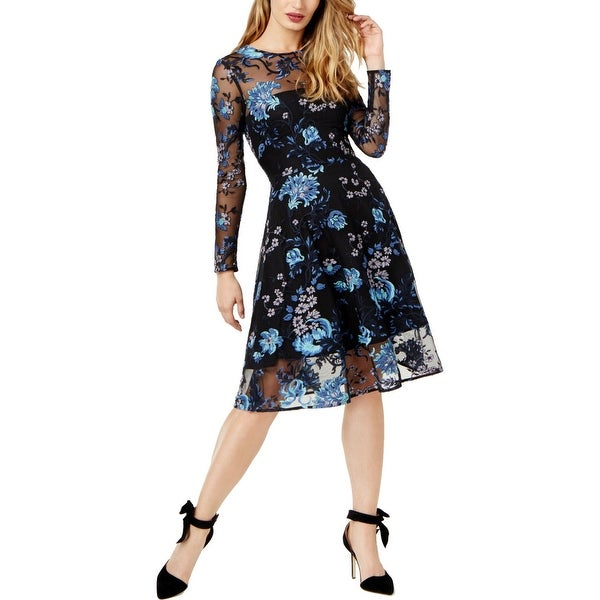 Sachin + Babi Womens Cocktail Dress Embroidered Floral Print