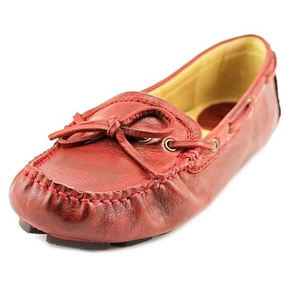 Frye Reagan Campus Driver Women Moc Toe Leather Red Loafer