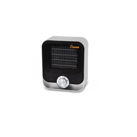 Crane Personal Space Heater With Adjustable Heat Settings, Black