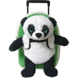Kreative Kids Unisex Green White Panda Plush Roller - One size