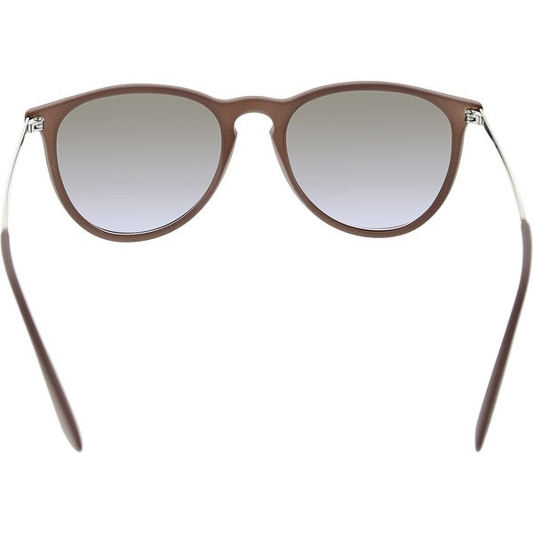 550a8a3b709c Ray-Ban Women s Erika RB4171-600068-54 Grey Round Sunglasses - Free  Shipping Today - Overstock.com - 24970435