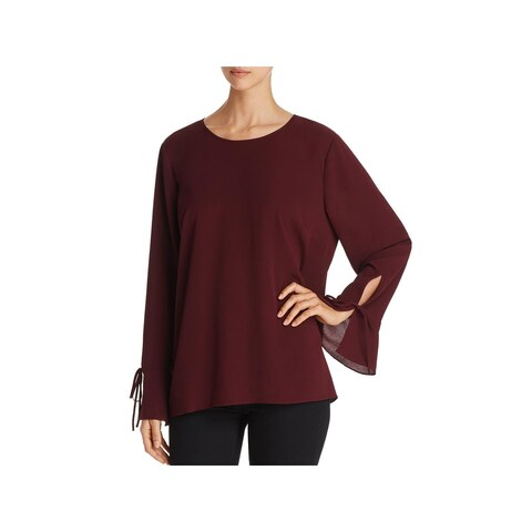 Vince Camuto Womens Blouse Georgette Bell Sleeve