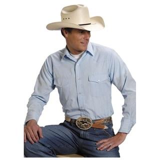 Roper Western Shirt Mens Long Sleeve Snap Blue 01-001-0145-0930 BU