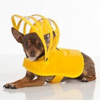Push Pushi Rainbow Line Dog Raincoat - Yellow - X-Small