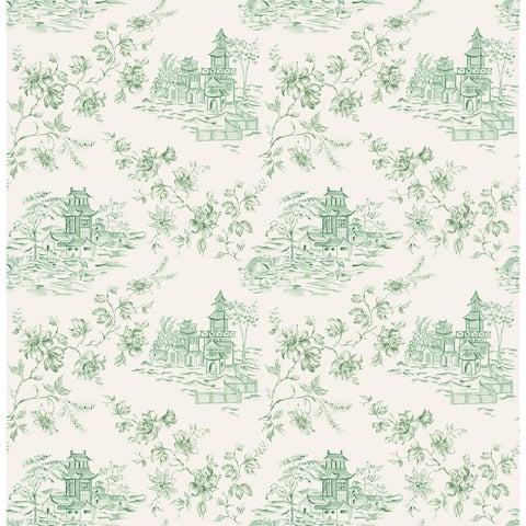 Zelda, Laure Green Toile Wallpaper