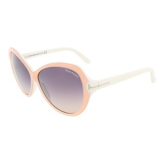 Tom Ford FT0326/S 74B VALENTINA Light Peach/White Butterfly sunglasses - 60-11-135