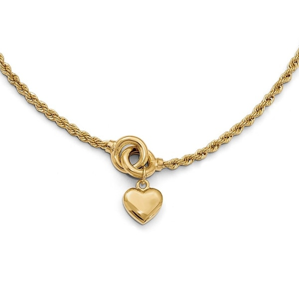 Italian 14k Gold Fancy Necklace - 17 inches