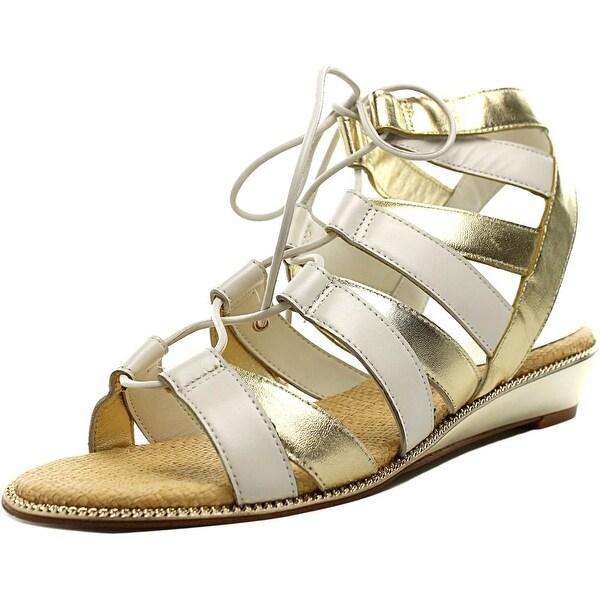 Shop Nicole Miller Jude Women Open Toe Leather Gladiator