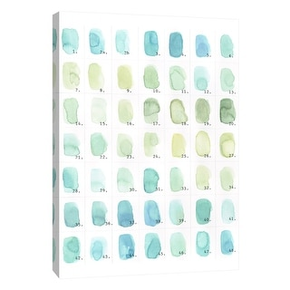 """PTM Images 9-105547  PTM Canvas Collection 10"""" x 8"""" - """"Aqua Swatches"""" Giclee Abstract Art Print on Canvas"""