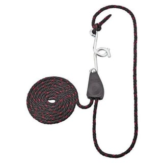 "Mintcraft 10010-L-OI Rope Ratchet 1/4""x8', Black/Red, #150"