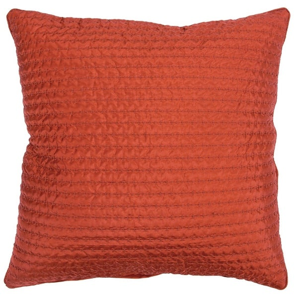 """Rizzy Home Solid Quilted 22"""" x 22"""" Decorative Pillow. Opens flyout."""
