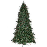 Gymax 7' Artificial PVC Christmas Tree Red Berries & Pine Cones Decoration