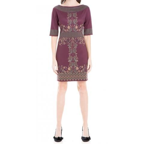 fe09ad71943 Max Studio Women s Small Floral Printed Sheath Dress
