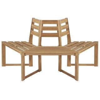 "Link to vidaXL Tree Bench Half-hexagonal 63"" Solid Acacia Wood Similar Items in Patio Furniture"
