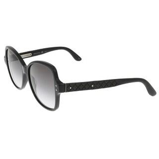 Bottega Veneta BV0045/S 001 Black-Gray Square Sunglasses