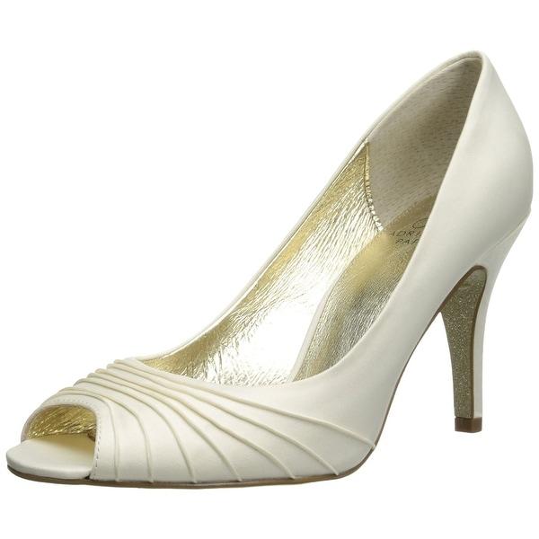 Adrianna Papell Womens Farrel Silk Peep Toe Classic Pumps