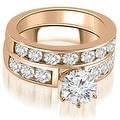2.50 cttw. 14K Rose Gold Classic Channel Set Round Cut Diamond Bridal Set - Thumbnail 0