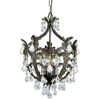 """Crystorama Lighting Group 5195-CL-MWP Legacy 5 Light 14"""" Wide Mini Chandelier wi"""