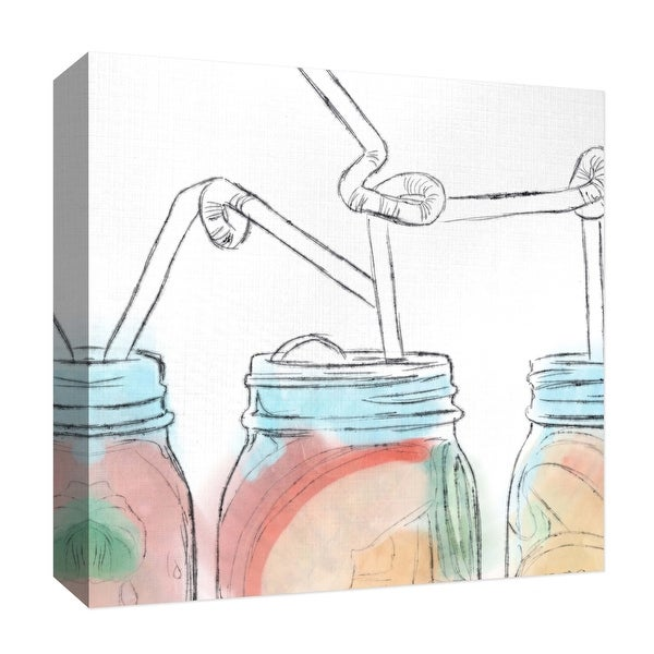 """PTM Images 9-126904 PTM Canvas Collection 12"""" x 12"""" - """"Refreshing"""" Giclee Liquor & Cocktails Art Print on Canvas"""