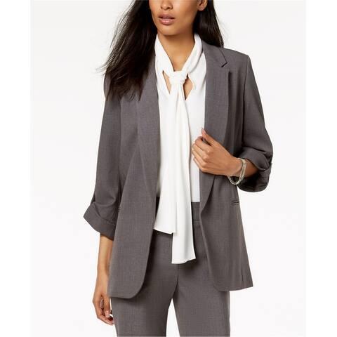 Nine West Womens Open Front Blazer Jacket