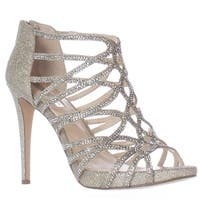 I35 Sharee2 Strappy Sparkle Dress Sandals, Champagne