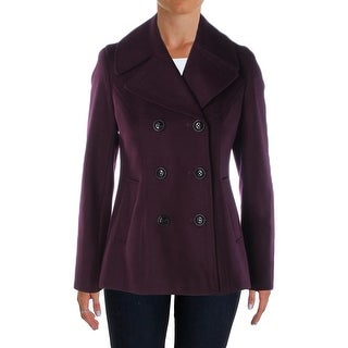 DKNY Womens Pea Coat Wool Double Breasted - 4