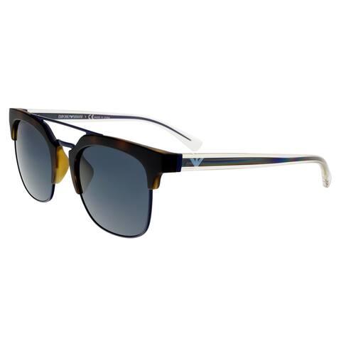 Emporio Armani EA4093F 508987 Matte Havana Square Sunglasses - 52-22-140