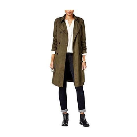 Maison Jules Womens Faux-Suede Jacket